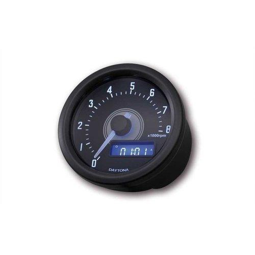 Daytona 60MM Toerenteller Velona 8.000 RPM Zwart