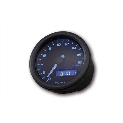 Daytona 60MM Velona 18.000 RPM Toerenteller Zwart