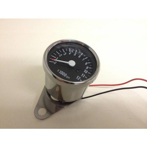 MCU 1:7 Drehzahlmesser 12K Schwarz/Chrom