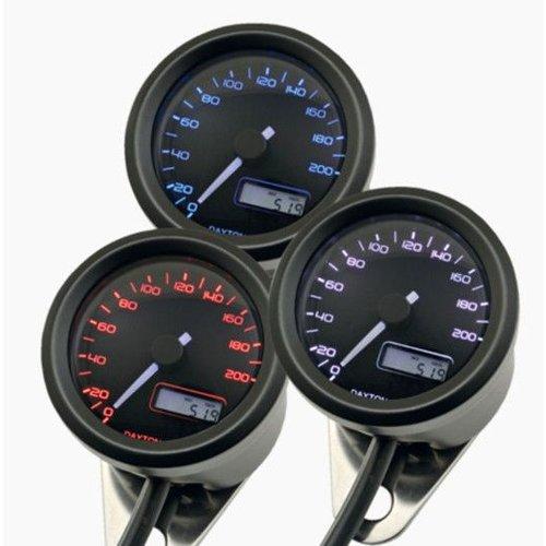 Daytona 48MM Velona Kilometerteller 200 km/h Zwart