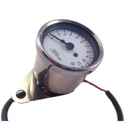 1: 4 Tachometer 12K White / Chrome
