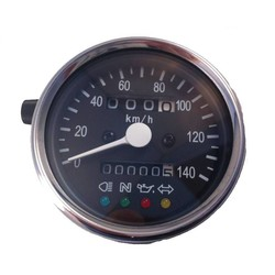 1:4 Speedometer 4 function lights Black/Chrome
