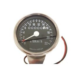 1:4 Tachometer 220km/h Schwarz/Chrom