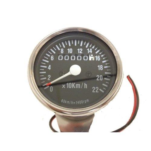 MCU 1:4 Tachometer 220km/h Schwarz/Chrom