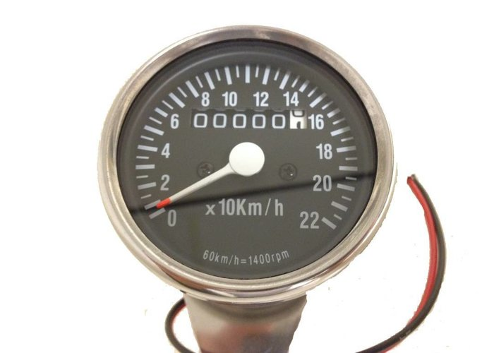 MCU 1:4 Kilometerteller 220km/h Zwart/Chrome