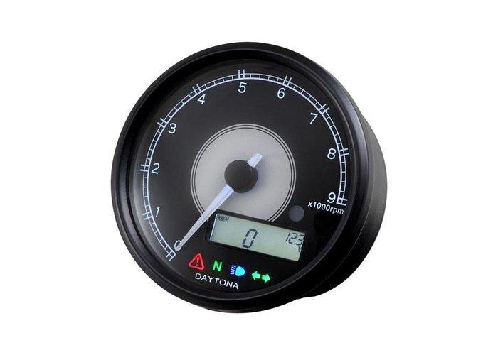 Daytona 80MM Velona Kilometerteller  / toerenteller 9000 Rpm