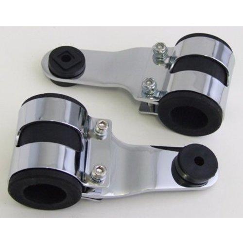 Emgo 35 - 46mm Scheinwerferhalterung mit Vibrationsgummi Verchromt