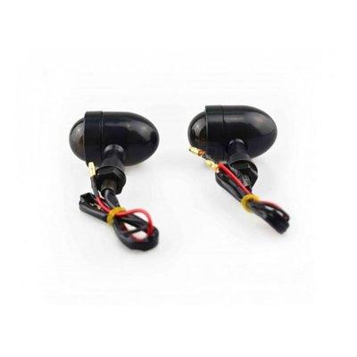 MCU Set Bullet Mini Black & Smoke Knipperlichten