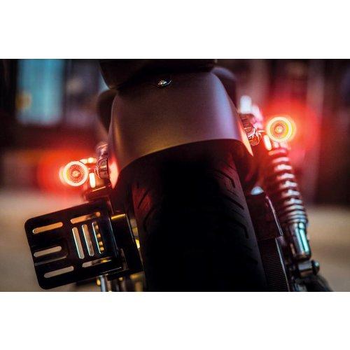 Kellermann 1000 DF Bullet LED-Blinker Rücklicht-Einheit Schwarz