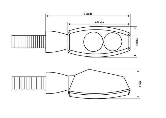 Shin Yo LED Knipperlichten Fineline Smoke / Dagrij verlichting