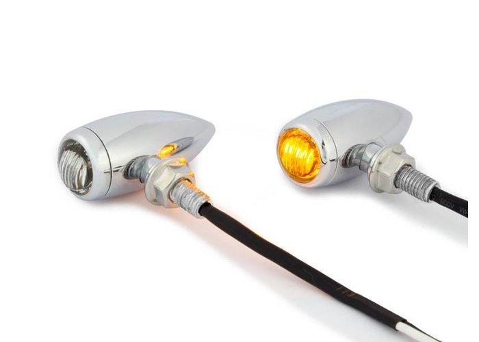 Premium CNC LED Knipperlichten (Set) Chrome