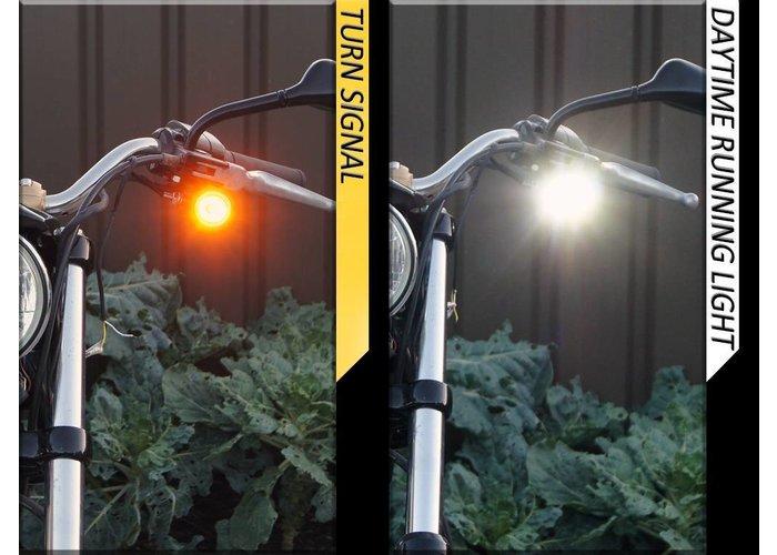 Set Bullet Running Lights & Knipperlicht Combinatie Zwart
