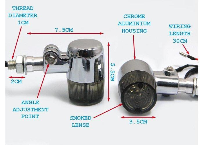Chrome Classic Barrel Led richtingaanwijzers