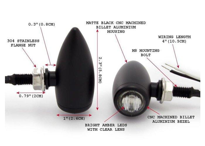 Micro Bullet Led-knipperlichten