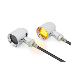 DERBY Chrome CNC Machined Classic Mini LED Indicators