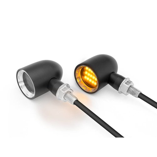 DERBY Black + Natural CNC gefreesde Classic Mini LED-indicatoren