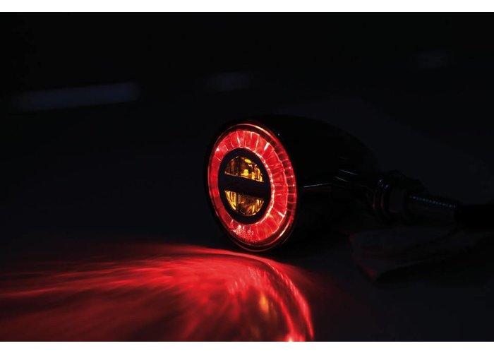 Highsider rocket Classic Led Achterlicht / Indicator Zwart