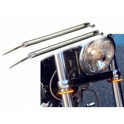 Set of LED Front Fork Indicators Bendable