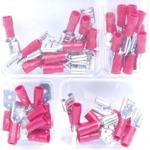 50 PC Kabelschuh Kit Rot