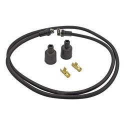 Câble d'allumage tressé 7 MM noir