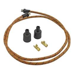 Câble d'allumage tressé 7 MM doré