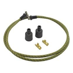 Câble d'allumage tressé 7 MM vert