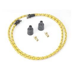 Câble d'allumage tressé 7 MM jaune