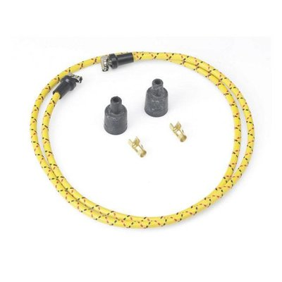 Lowbrow Customs Braided Spark Plug Cable 7MM Gelb