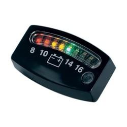 Voltmètre noir à LED 12 volts de Kuryakyn