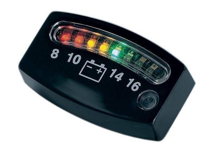 Kuryakyn LED 12 Volt Meter Zwart