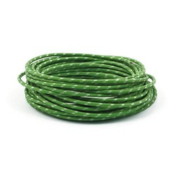 Gevlochten Kabel 3MM Groen 7,5 Meter