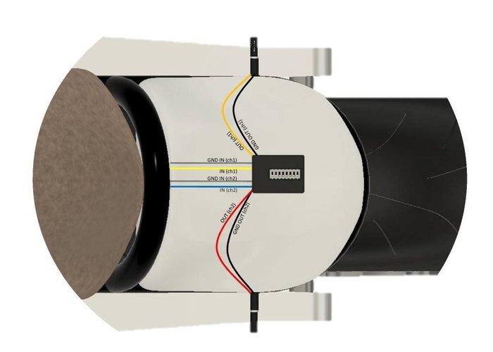 Highsider CAN-BUS weerstand CBW1 met DIP-schakelaar.