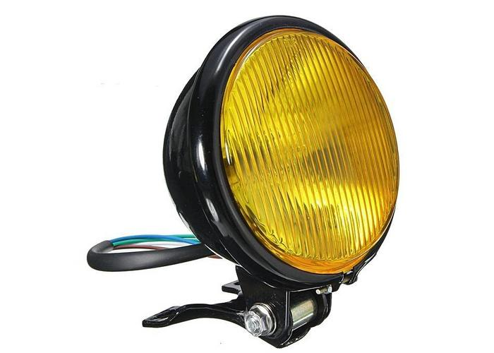 "MCU 5"" Oldskool  Koplamp Black & Yellow"