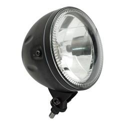 """5.75 """"SKYLINE Headlight with LED Ring Halo Bottom Mount Black"""