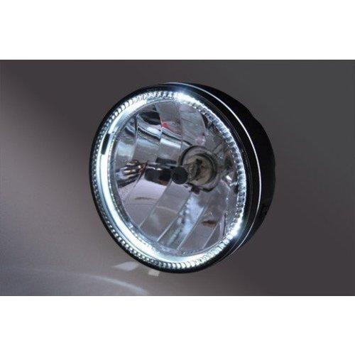 """Highsider 5,75 """"SKYLINE Scheinwerfer mit LED Ring Halo Bottom Mount Schwarz"""