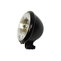 5.75 '' Chopper Headlight Black Under Mounting