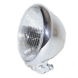 5.75 '' Chopper Headlight Chrome, H4, E-Mark