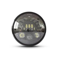 """7"""" Multi LED Koplamp + Indicatoren Zwart"""