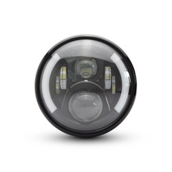 "Phare avant noir Multi LED 7,7"" + clignotants - Type 2"