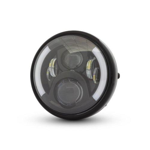 "7.7 ""Multi LED Koplamp met Knipperlichten Zwart Type 2"