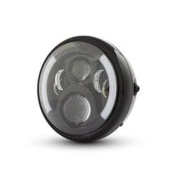 "7 ""Multi LED Headlight with Indicators Black Type 2"