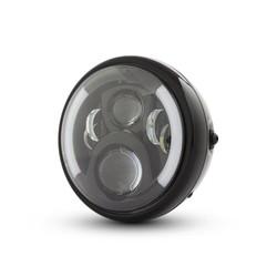 """7 """"Multi LED Scheinwerfer mit Blinker schwarz Typ 2"""