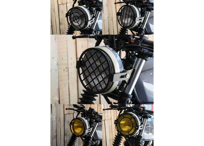 C.Racer Koplampscherm + lensset open (3 stuks)
