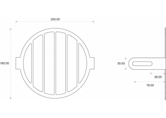 C.Racer Koplampscherm + lensset bodemmontage (3 stuks)
