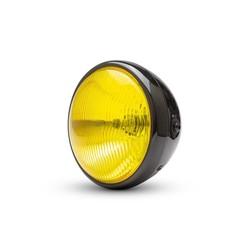 "7 ""Custom Gloss Black Scheinwerfer - Gelbe Linse"