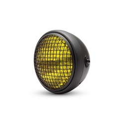 "7 ""Chopper Headlight Mesh - Yellow / Black"