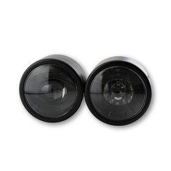 Dubbele koplamp zwart