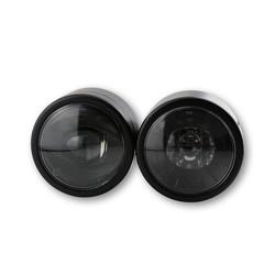 Dubbele LED-koplamp zwart