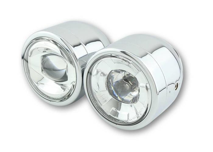 Shin Yo Dubbele koplamp chrome