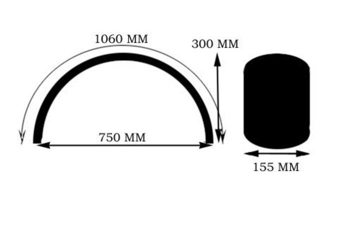 MCU 155MM Staal Plat Spatbord